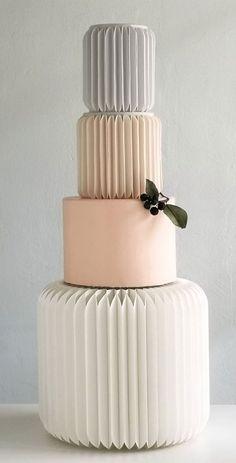 Pretty Wedding Cakes, White Wedding Cakes, Wedding Cake Designs, Cake Wedding, Wedding Themes, Wedding Colors, Wedding Ideas, Architecture Cake, Geometric Cake