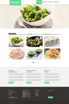 Restaurant Website by Diana NB, via Behance