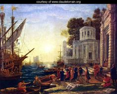 The Disembarkation of Cleopatra at Tarsus - Claude Lorrain (Gellee) - www.claudelorrain.org