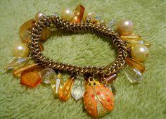 Vintage 1960 de gouden Toon Lady Bug metalen door MelaniesFabFinds