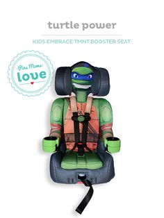 Your pint-sized ninja will love it, and you'll appreciate the Kids' Embrace Teenage Mutant Ninja Turtle booster seat for on-the-road safety.