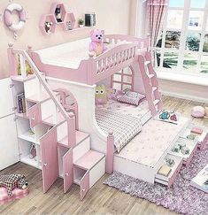 Lovely Pretty Shabby Chic Kids Bedroom Ideas For Girls Girls Bedroom, Girl Bedroom Designs, Baby Bedroom, Bedroom Decor, Bedroom Shelves, Cute Bedroom Ideas, Cute Room Decor, Princess Bedrooms, Princess Room