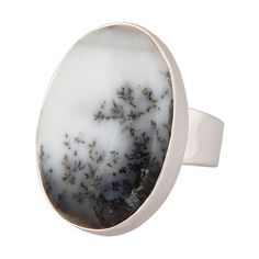 Dendritic Opal ring Natural opal gemstone ring by almascollection