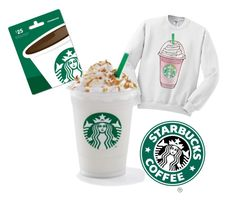 """""""Love my Starbucks ❄️"""" by khaleahcute ❤ liked on Polyvore"""