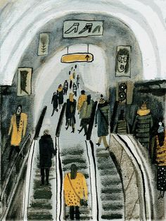 Reminds me of an old favorite, Ludwig Bemelmans. Illustration by Alisa Yufa. Illustration Inspiration, Graphic Design Illustration, Gravure Illustration, Illustration Art, Art Aquarelle, Illustrations And Posters, Aesthetic Art, New Art, Art Inspo