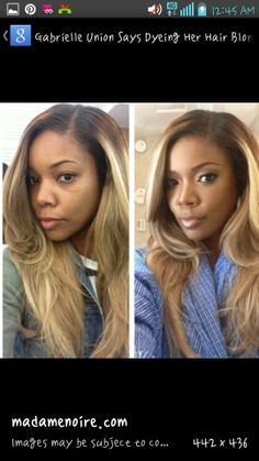 Love Gabrielle Union's multi blonde hair with brown roots