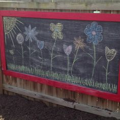 Backyard chalkboard for the kids
