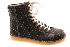 #Grünbein #Boots LOUIS Punkt schwarz