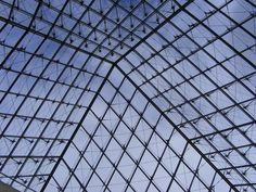 From under the Louvre glass pyramid