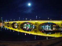 London Bridge is a bridge in Lake Havasu City, Arizona, that is the reconstruction of the 1831 London Bridge that spanned the River Thames in London, England until it was dismantled in 1967.  Robert McCulloch, purchased the bridge to serve as a tourist attraction to his retirement real estate development at Lake Havasu City, which at that time was far from the usual tourist track. The idea was successful, bringing interested tourists and retirement home buyers to the area.