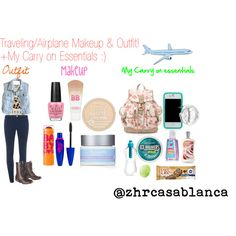 Traveling/Airplane Makeup, Outfit +My carry on essentials