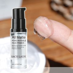 1.Smooth Mattifying Invisible Pore Primer Face Foundation Primer is the answer to unwanted shine, fighting against excess oil to ensure a matte makeup result  2.Formulated with our specific complex, this first step equalizer instantly reduces pore size and controls shine for a flawless makeup all day long. #poresinvisible #oilcontrol #silkytexture #faceprimer #smoothfinelines #flawlessmattelooks #sacelady Face Foundation, Too Faced Foundation, Foundation Primer, Face Primer, Reduce Pore Size, Nose Strips, Matte Makeup, Long Lasting Makeup, Cream Concealer