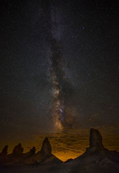 Trona Pinnacles and the Milky Way in the California Desert.