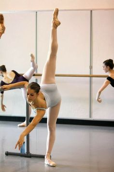 practice at the barre. | #dance #ballet #barre #pointe