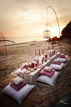 Bali beach wedding decor.