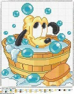 Embroidery Stitches Projects Disney Characters 54 Ideas For 2019 Disney Cross Stitch Patterns, Cross Stitch For Kids, Cross Stitch Baby, Cross Stitch Charts, Cross Stitch Designs, Disney Stitch, Cross Stitching, Cross Stitch Embroidery, Baby Motiv