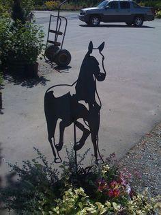 Horse Silhouette Metal Farm Wall Yard Art Silhouette Metal Horse.... $112.50, via Etsy.