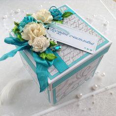 Купить Открытка коробочка на день свадьбы. - свадьба, свадебный подарок, радость близким, бумага для скрапбукинга