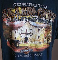 HARLEY DAVIDSON Men's Teal SAN ANTONIO T-Shirt XL XLarge