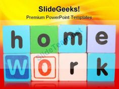 Home Work Education PowerPoint Backgrounds And Templates 1210 #PowerPoint #Templates #Themes #Background