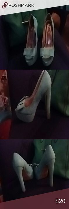 Charlotte Russe high heels Very tall high heals, sexy date shoes in teal ???? Charlotte Russe Shoes Heels