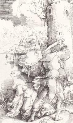 Graf, Urs,: Die Enthauptung der Hl. Barbara,  um 1519, Feder in Schwarz, auf Papier, Basel, Kupferstichkabinett