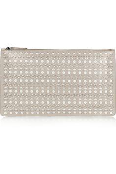 Alaïa Laser-cut leather pouch NET-A-PORTER.COM