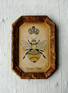 ≗ The Bee's Reverie ≗ Primitive painting of a queen bee.