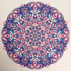 From Angie Grace colouring book Balanced. Coloured with ultra fine sharpies.