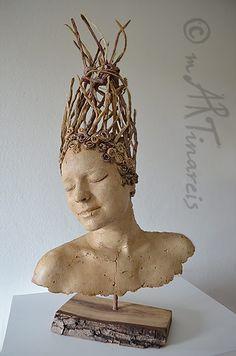 mARTinareis Galerie - Köpfe, Figuren, Gesichter aus Pappmache