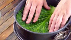 Line the springform pan with green leaves! Beef Recipes, Salad Recipes, Cooking Recipes, Eggplant Pasta, Pasta Cake, Savoy Cabbage, Springform Pan, Cabbage Rolls, Spring Recipes