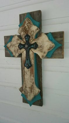Check out this item in my Etsy shop https://www.etsy.com/listing/223874431/unique-shabby-chic-wall-cross-multi