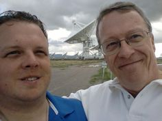 Son Matt and dad at the very large array radio telescope west of Socorro, New Mexico.