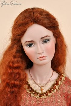 "porcelain dolls on the poem by Tennyson's ""Lady of Shallot"" Bratz Doll, Doll Toys, Barbie Dolls, Dollhouse Dolls, Miniature Dolls, Real Doll, Baby Girl Dolls, Themed Outfits, New Dolls"