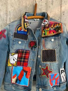 Vintage Jeans, Vintage Jacket, Custom Clothes, Diy Clothes, Redone Jeans, Diesel Jacket, Painted Denim Jacket, Denim Ideas, Denim Crafts