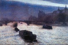 Evening on the Seine (Wieczór nad Sekwaną) ~ Aleksander Gierymski ~ (Polish… Nocturne, Famous Pop Art, Art History Major, Prince, Time Painting, Classic Paintings, Art Database, National Museum, Dark Art
