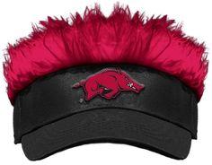 Arkansas Razorbacks Flair Hair Visor. Visit SportsFansPlus.com for Details.