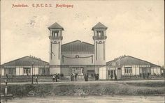 "Beeldbank Prentbriefkaarten - Hoofdingang Entos, Badhuisweg EERSTE NEDERLANDSCHE TENTOONSTELLING OP SCHEEPVAARTGEBIED, AMSTERDAM 1913. ""OUD AMSTERDAM"" HUGO HAASE A.G., Hannover."