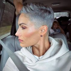 Short Messy Haircuts, Short Shaved Hairstyles, Short Relaxed Hairstyles, Short Hair Undercut, Short Hair Cuts, Short Hair Styles, Pixie Cuts, Pixie Cut Shaved Sides, Super Short Hair