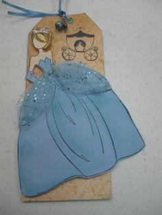 Prima's new princess doll stamp.  I made her into Cinderella!
