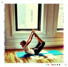 #yoga I can't do this pose right now, but am working towards it.  Feels amazing on my back.