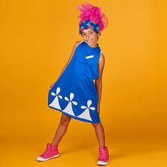 DIY Your Halloween Costume and Be Poppy The Troll  sc 1 st  Pinterest & Dreamworks Trolls movie Halloween DIY family costume! Giving Justin ...