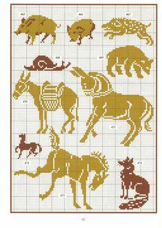 Gallery.ru / Photo # 23 - Repertoire des motifs - Orlanda pig snail donkey horse boar bear fox