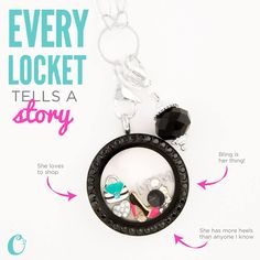 Every Locket tells a story.  What's yours? Just click on the pic to order Your Origami Owl Locket and tell your story.