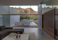 Completed in 2017 in Tucson, United States. Images by Bill Timmerman. Emerging from the desert, Canyon House is equal parts land-form and mechanism for viewing. Stoic on the exterior - but more than an object in the. Modern House Plans, Modern House Design, Modern Interior Design, Canon, Desert Homes, Outdoor Living, Outdoor Decor, At Home Store, Exterior Design