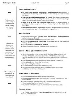 Visual Arts Teacher Resume 1 838x1106 Pixels Elementary