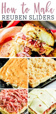 Reuben Sliders Sanwiches {Easy Baked Sandwich on Hawaiian Rolls} Use up that leftover corned beef in these easy reuben sandwiches. Layers of beef, cheese and sauerk Hawaiian Roll Sandwiches, Rolled Sandwiches, Appetizer Sandwiches, Party Sandwiches, Hawaiian Rolls, Appetizer Recipes, Hawaiian Sliders, Baked Sandwiches, Recipes