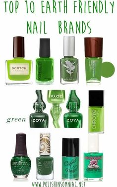 Top 10 Earth Friendly Nail Brands