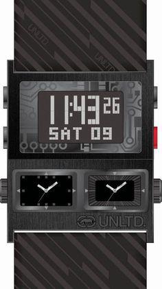 UNLTD Fall 2012 #StreetTech  The Tectonic E21586G1  @EckoWatchCanada Canada, Tech, Watches, Street, Digital, Fall, Collection, Autumn, Wristwatches