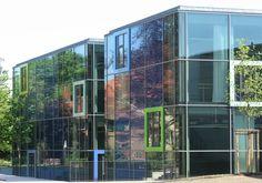 Fassade Gartenseite, Paluccaschule Dresden Hochschule für Tanz, gebaut von SEP Architekten(2008), Basteiplatz 4,Dresden,Deutschland #architektur #architecture #Architektur #Dresden #21. Jh